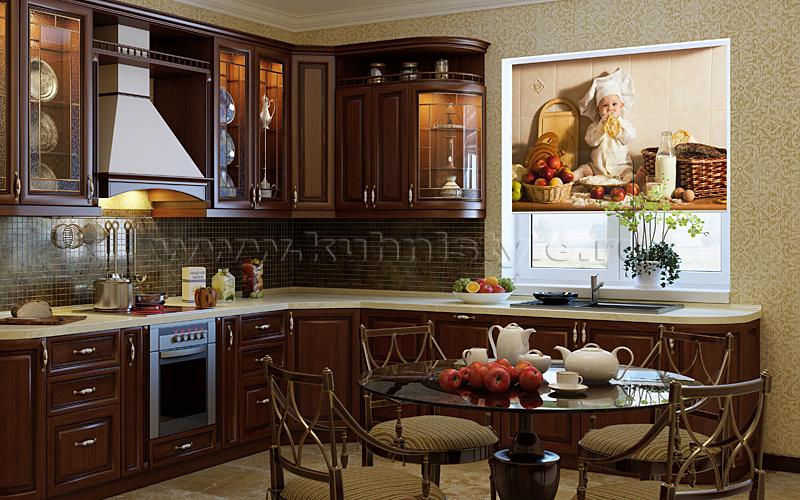 Интерьер кухни фото классика